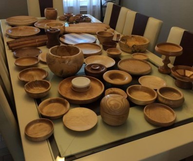 Some of Dad's wood turnings treasures.